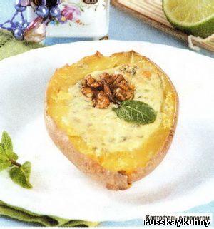 Картошка с творогом в духовке с фото